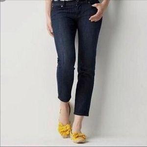 Ann Taylor Loft Modern Crop Jeans Dark size 31/12
